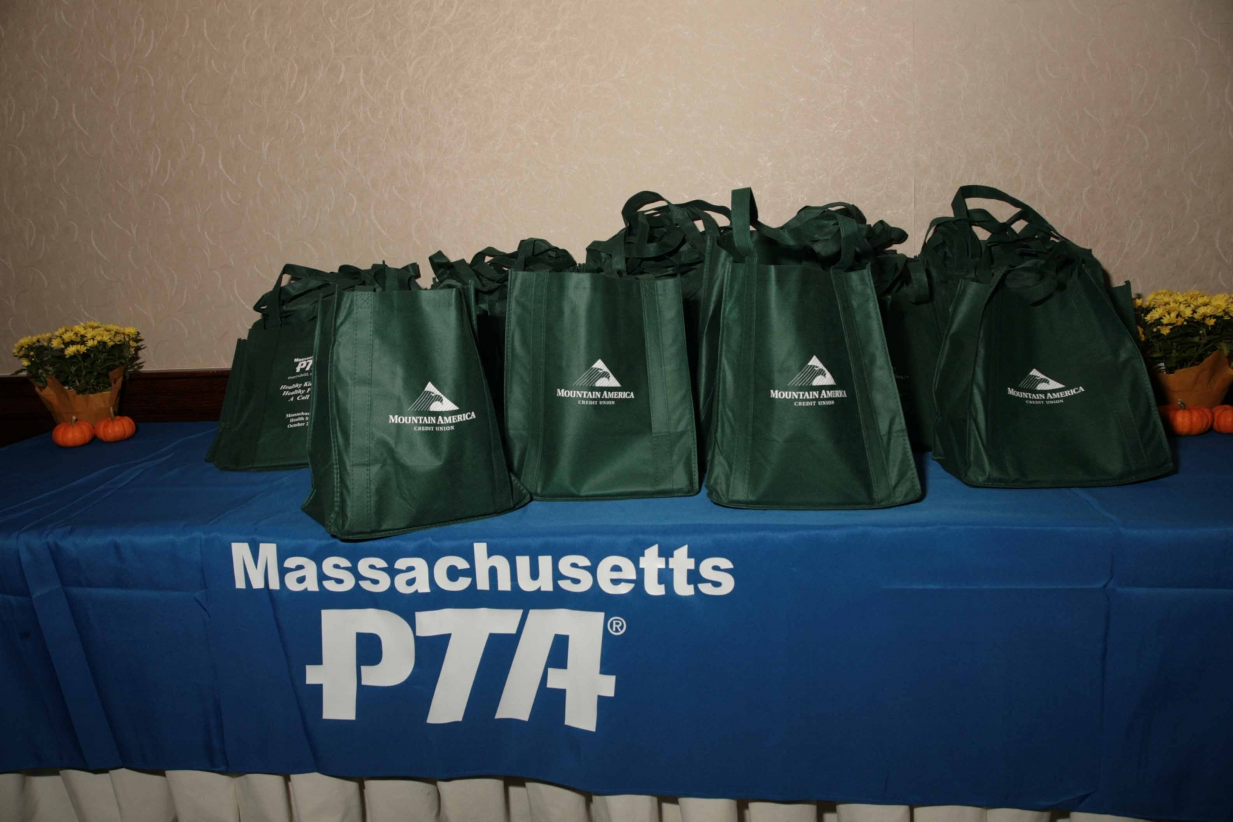 MA PTA Health Summit Attendee Bags Sponsored by Mountain America Credit Union, Diamond Level Sponsor
